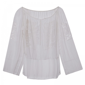Vintage White Romanian Blouse