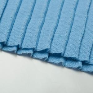 Wool pleated skirt blue Alisia Enco