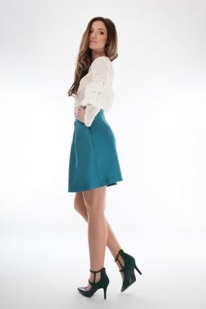 Bluza ivory din bumbac brodat Onibon Fashion