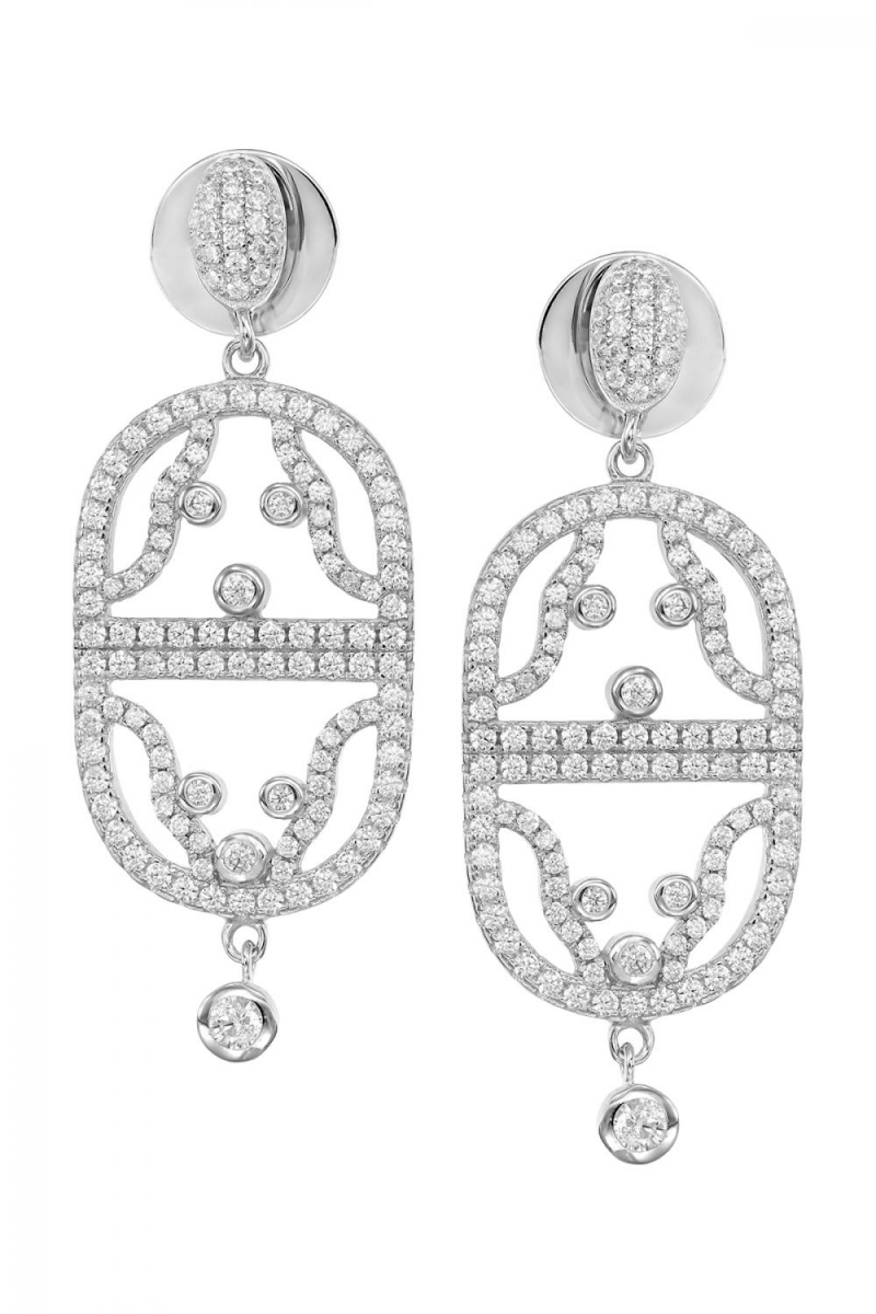 Adams thoughts silver earrings with zirconium