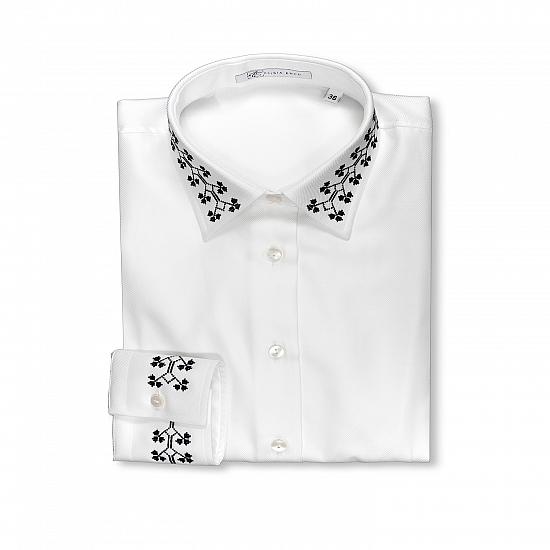 Alisia Enco Romanian motifs business shirt Trifoi OUT OF STOCK