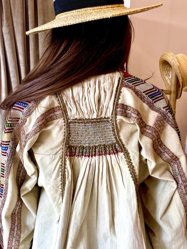 Banat Bulgarian 100 year old Vintage Authentic Folklore Blouse