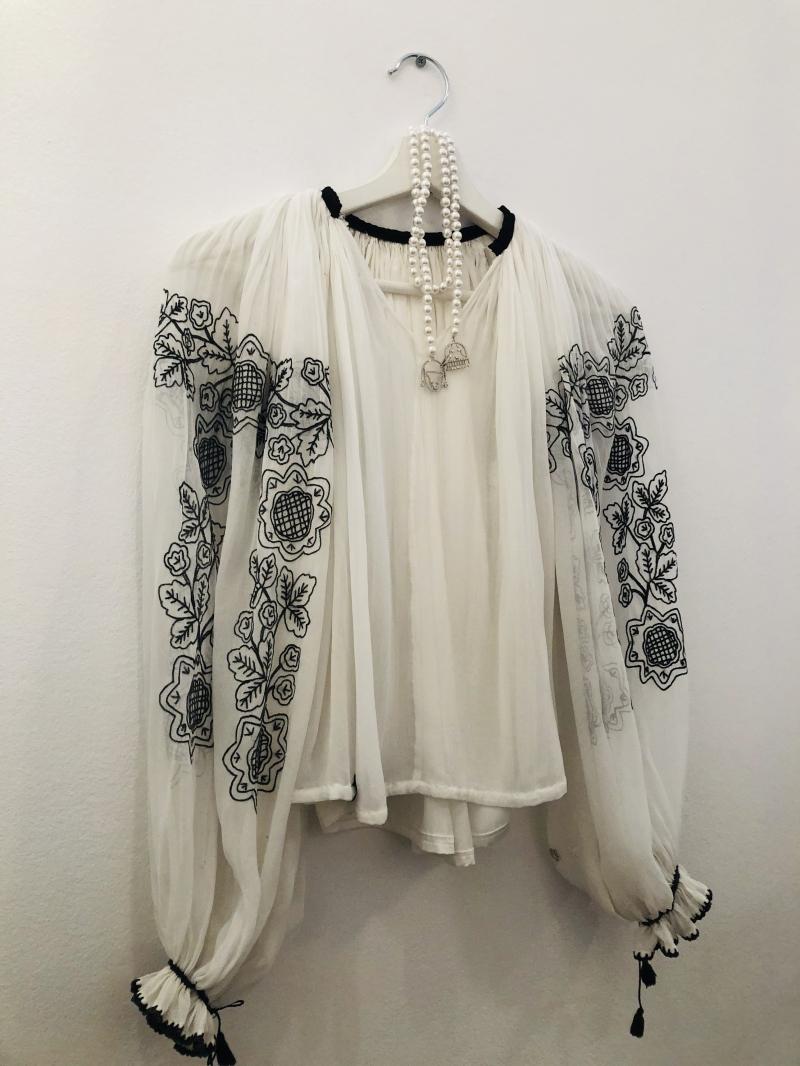 Bluza romanesca marquistette stil Art Nouveau  veche peste 100 ani