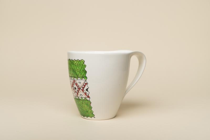 Big Romanian Mug 100% Handpainted