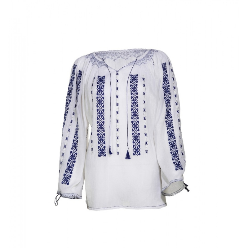 Blouse Roumaine Traditional Handmade Embroidery Elena