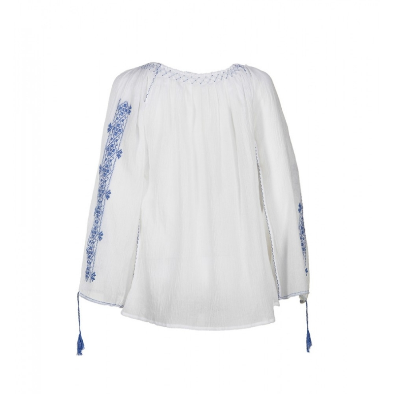 Blouse Roumaine Traditional Handmade Embroidery Maria