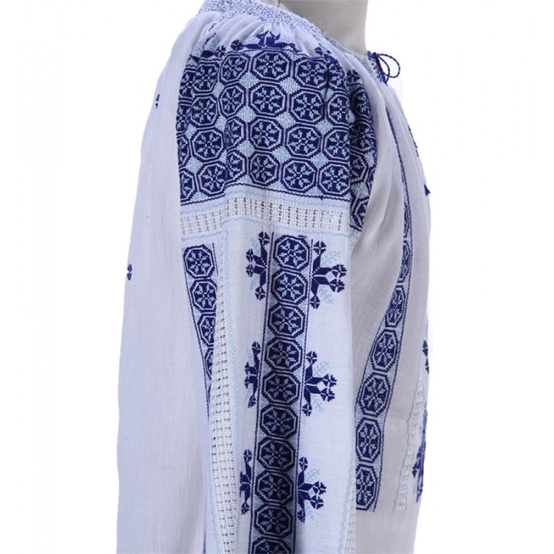Blue Embroidered Blouse Wheel of Fortune