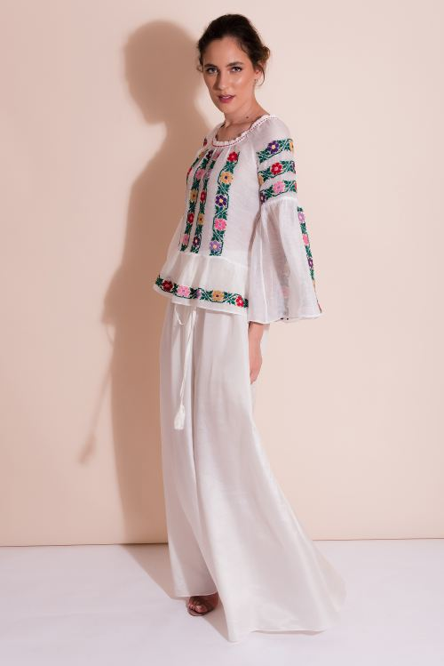 Marquisette Embroidered Blouse