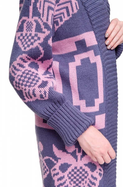Cardigan tricotaj maxi Beskida 2Kolyvory