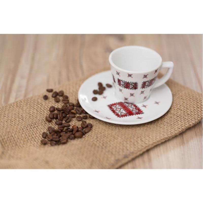Set cescuta cafea cu farfurioara pictate manual