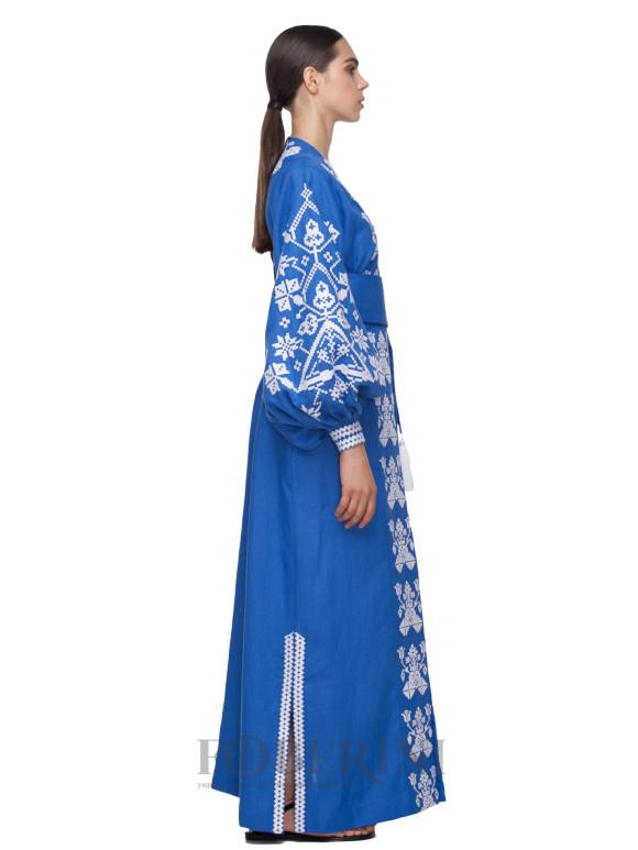 """Kimono embroidered dress """"Morning fog"""""""