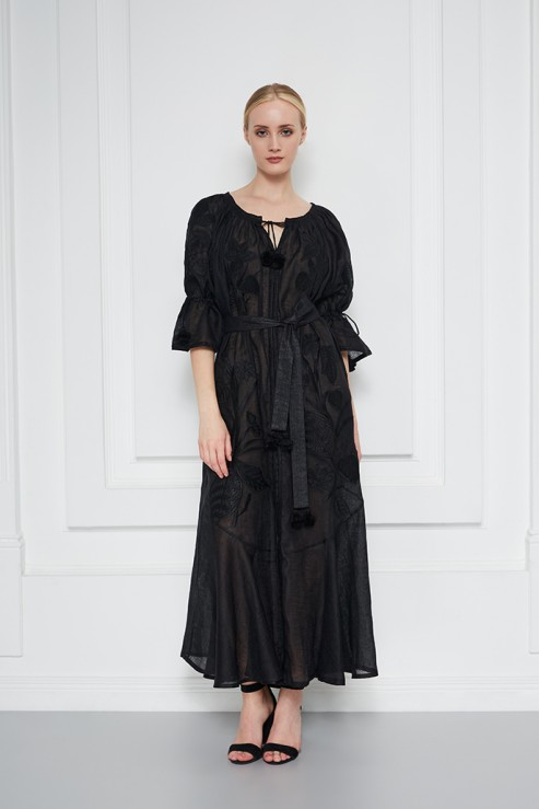 Eden Black Embroidery Dress