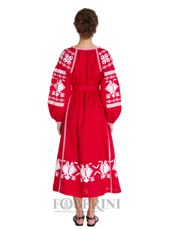"Embroidered dress ""Red Rue"""