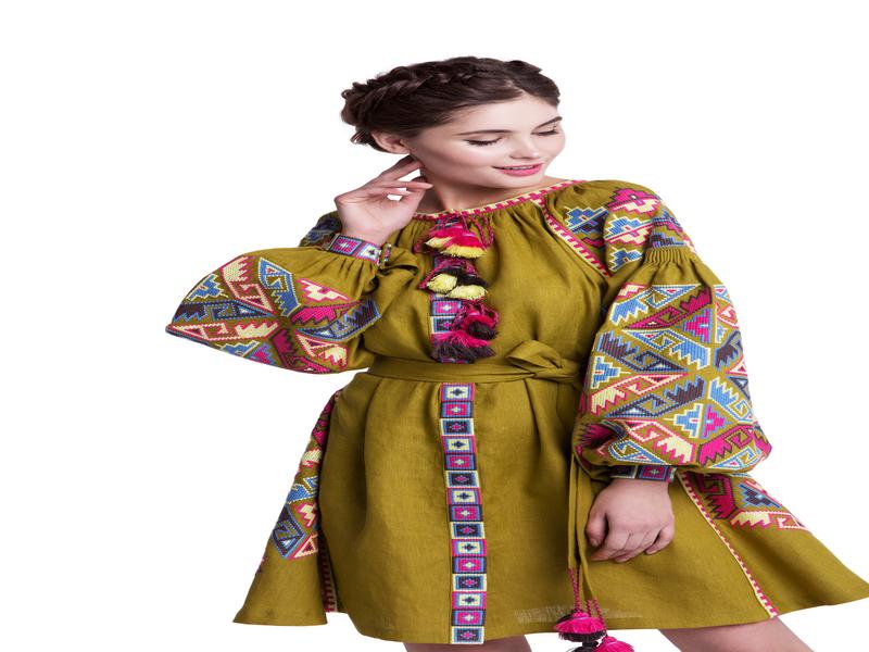 """Embroidered Ethic Style Dress """"Lyalya"""""""