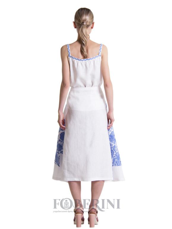 Embroidered skirt «Violet»
