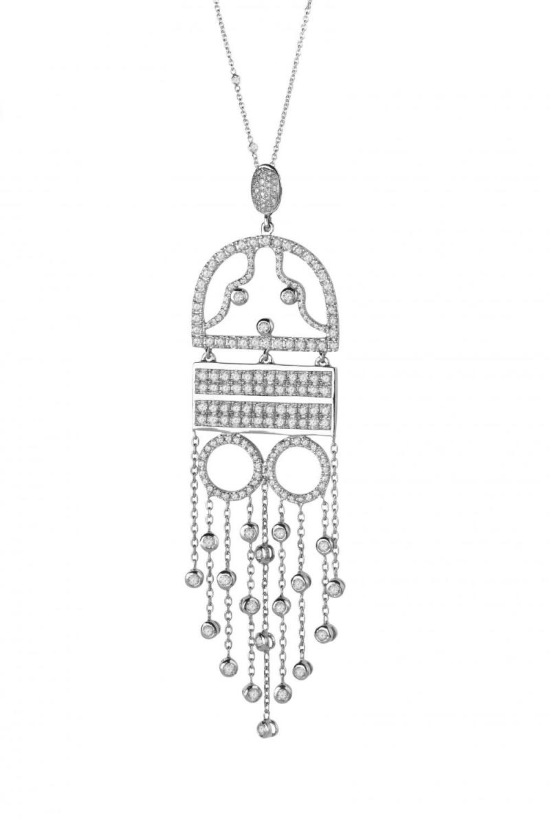 Colier argint Eva in rochie de seara Claudia Florentina