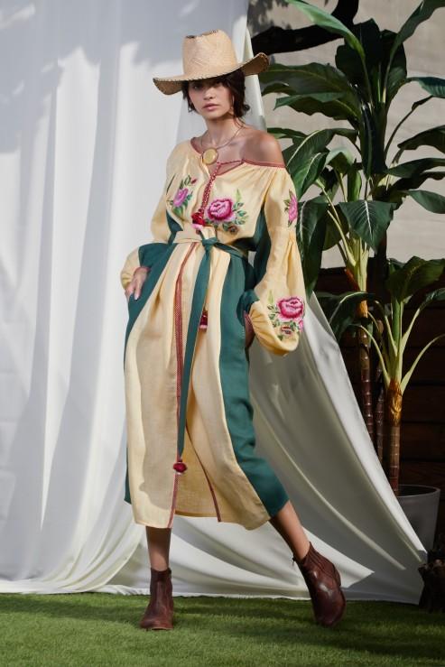 Flora Beige Dress Foberini