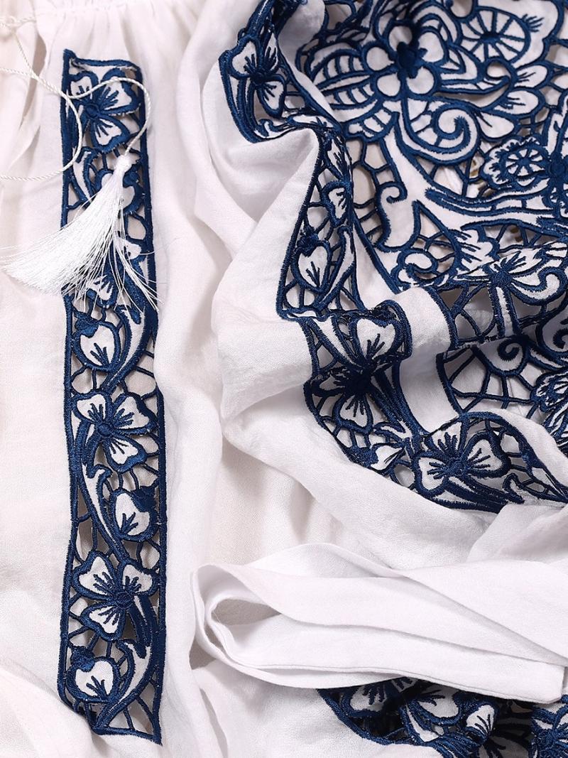 FLORII Folk Embroidery cutwork Ajouree Blouse