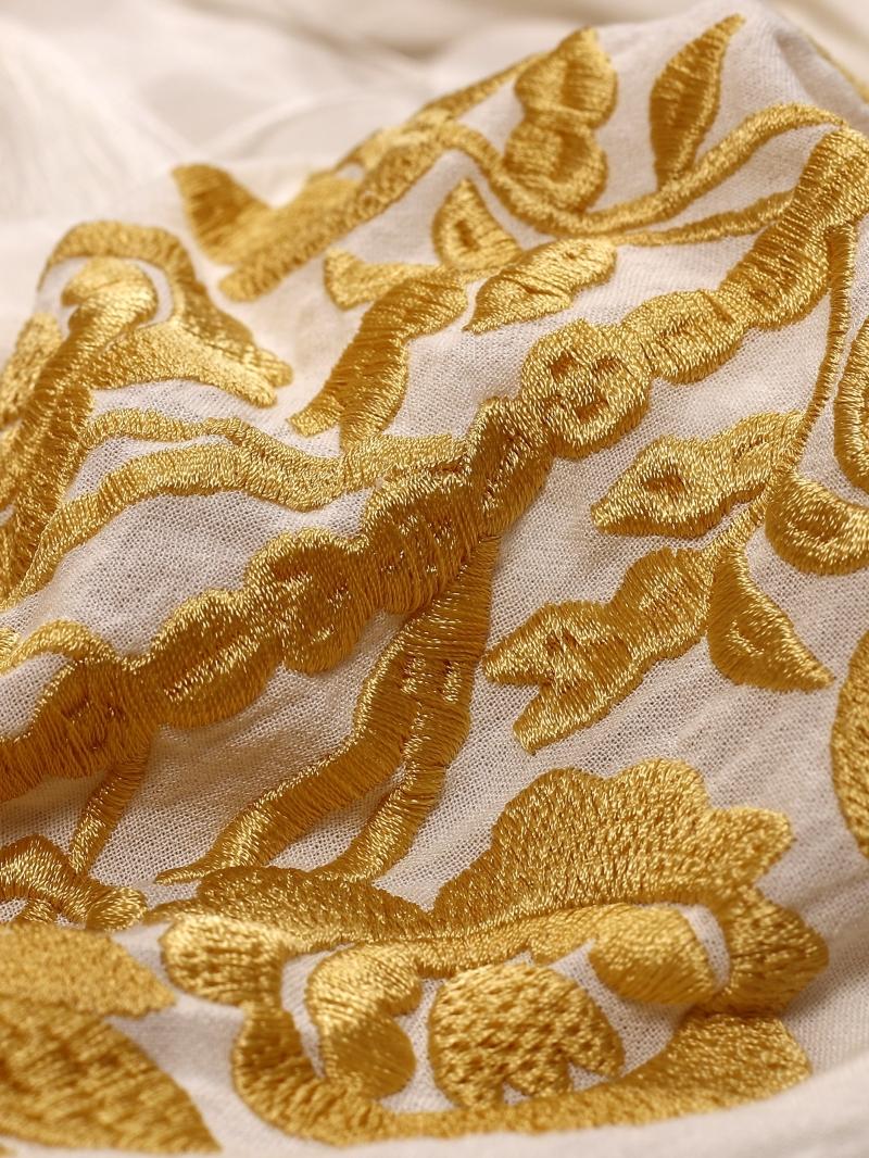 Bluza Dama Tip Ie Stilizata Cu Broderie Florala De Inspiratie Traditionala Copacul Vietii broderie Galben Mustar FLORII