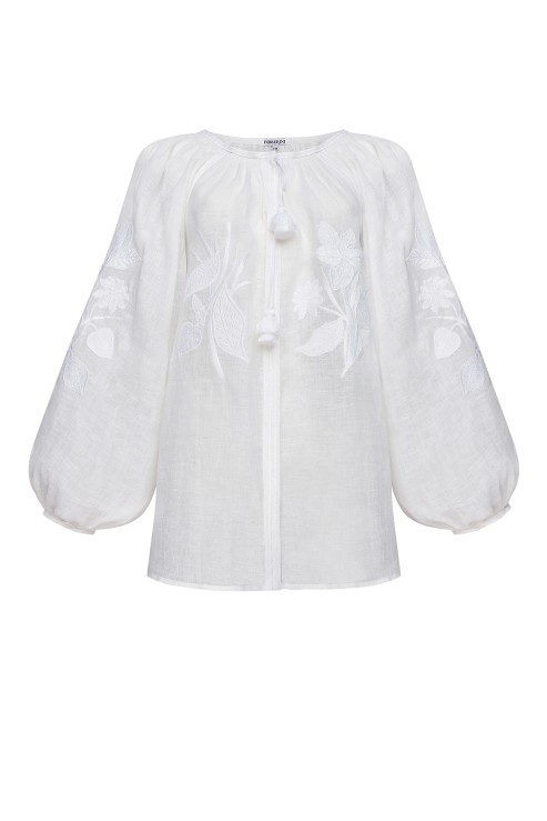 Foberini Eden White Embroidered Blouse