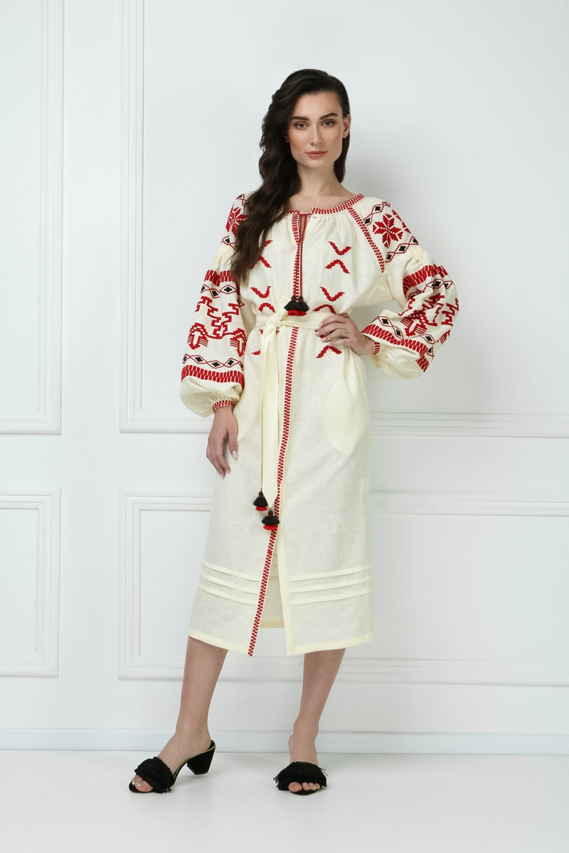 Foberini Embroidered Folk Ukrainian Dress Tina