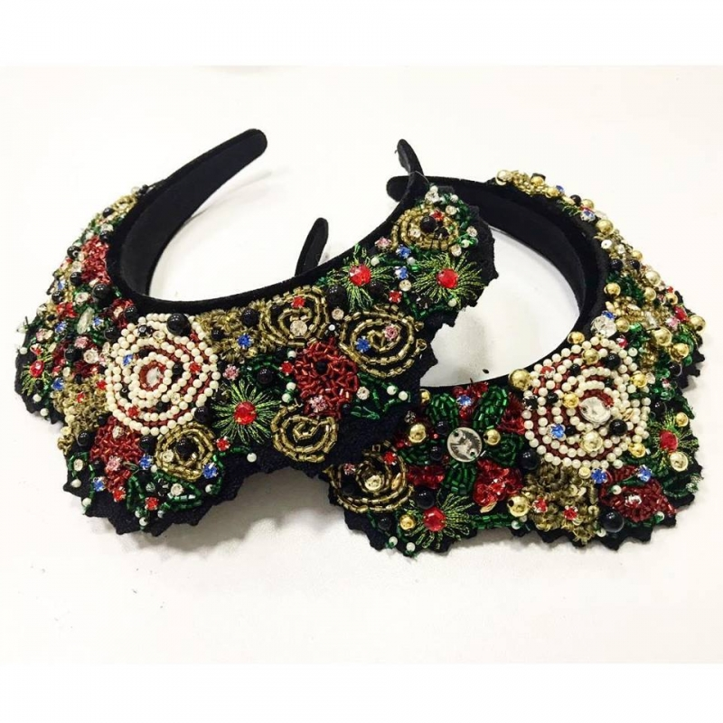 Folk studded Headband Embelished with gems and beads