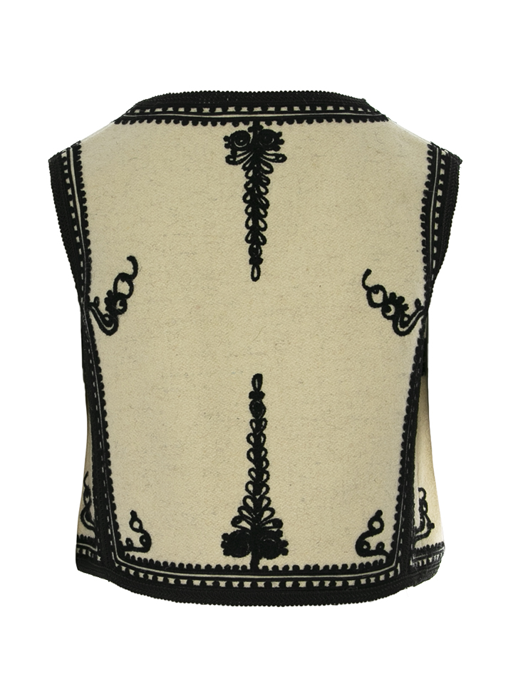 Genuine Traditional Wool And Cashmere Crafted Romanian Vest Model 03