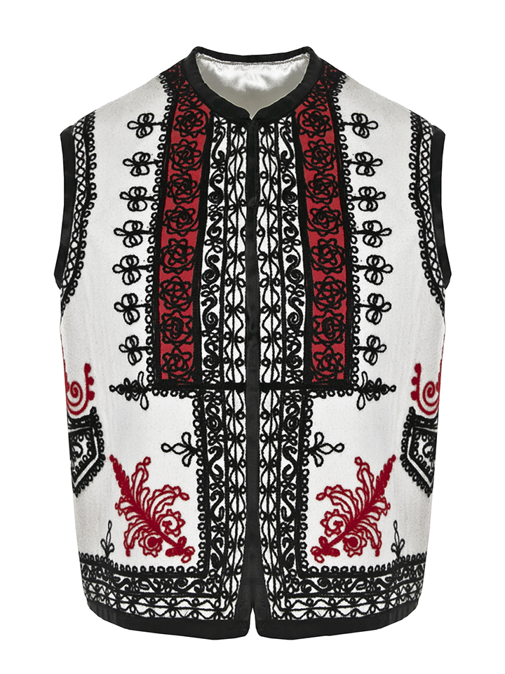 Genuine Wool And Cashmere Crafted Romanian Vest Model 02