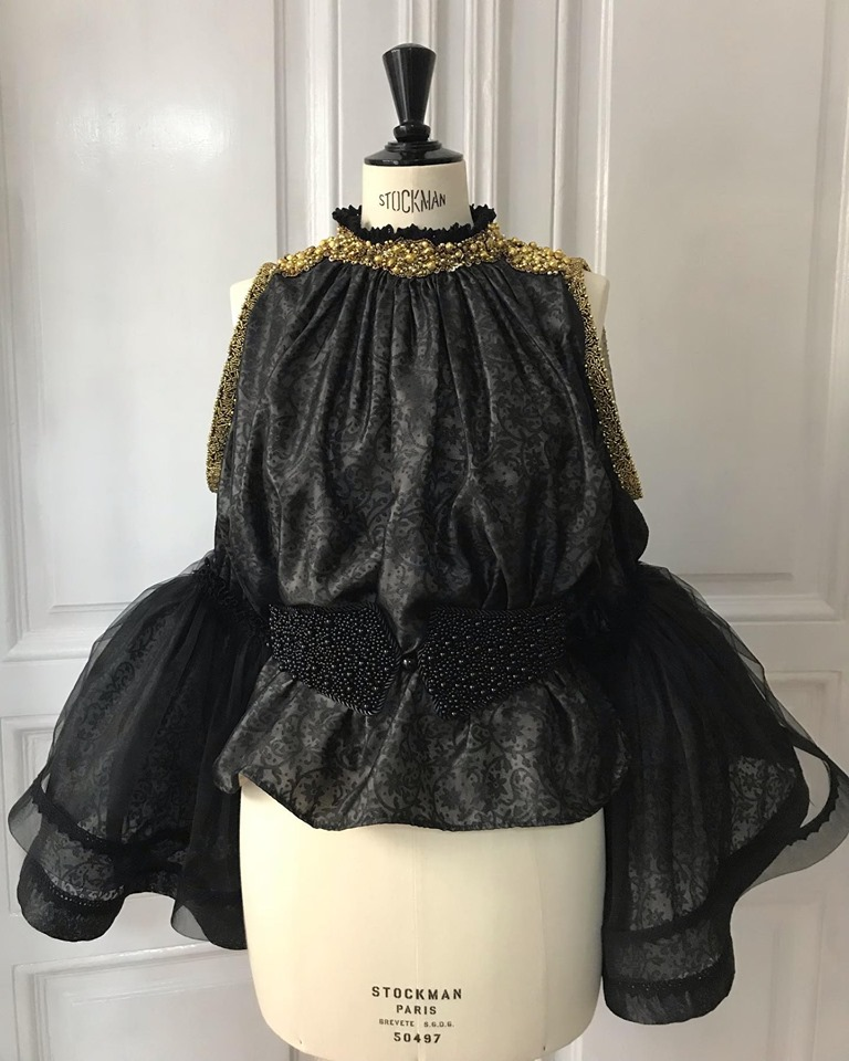 Ie contemporana negru couture IE Clothing