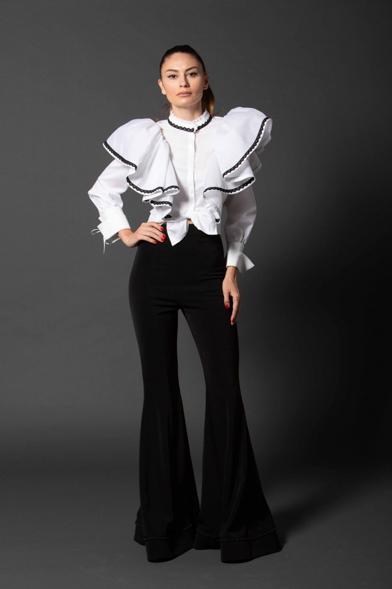 IE CLOTHING Flared Trousers