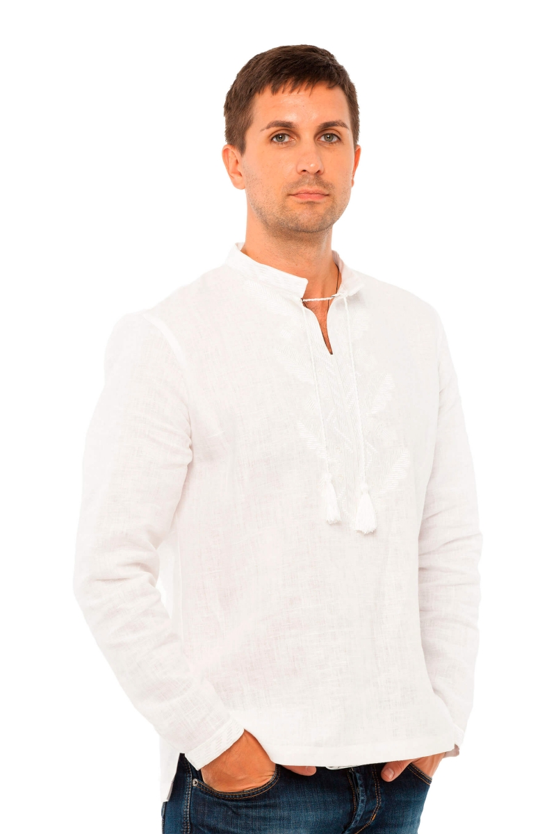 "Man embroidery shirt ""Dybky"" white 2Kolyvory"