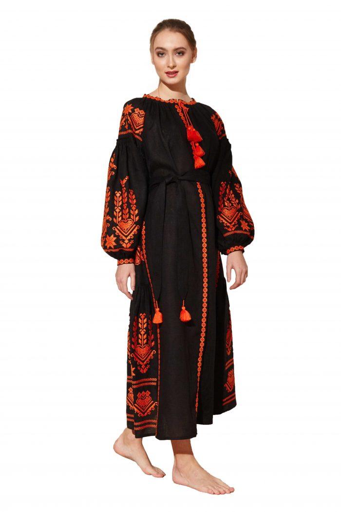 Maxi bohemian linen dress Agnes Bazena