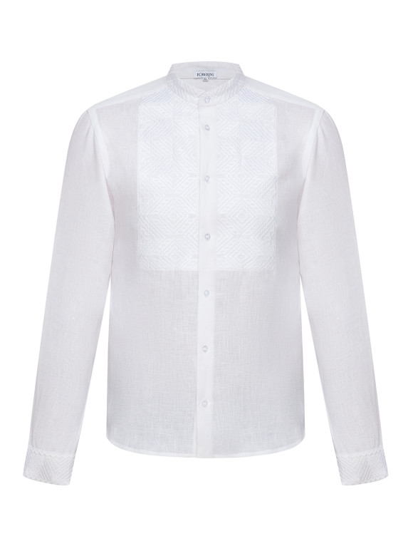 Men Folk Shirt on White Foberini