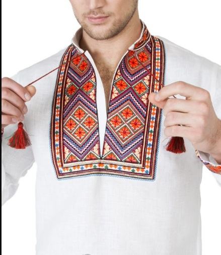 "Men's white Embroidered shirt ""Carpathians"""