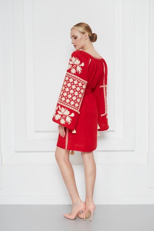 Mini tunic bohemian traditional dress Zoryana