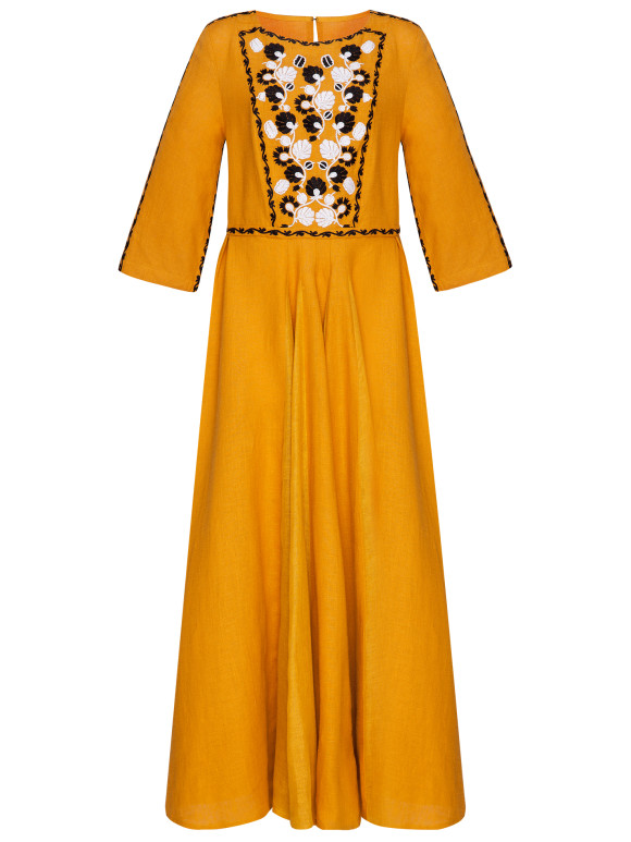 Ocher dress Mary