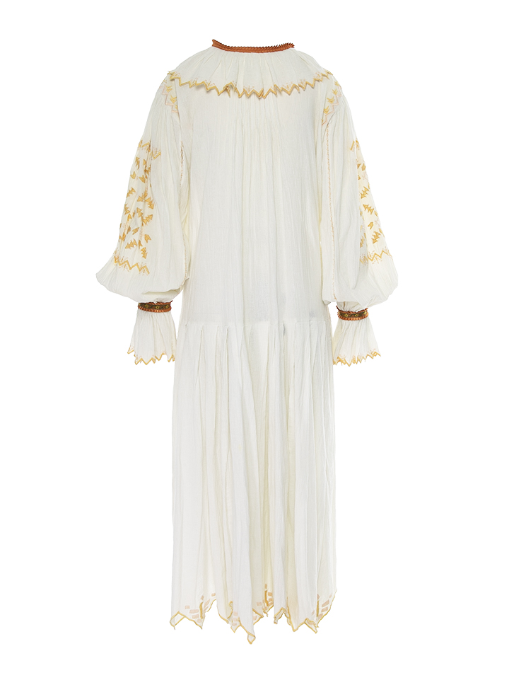 One of a kind vintage Romanian crafted dress handmade in the 80s