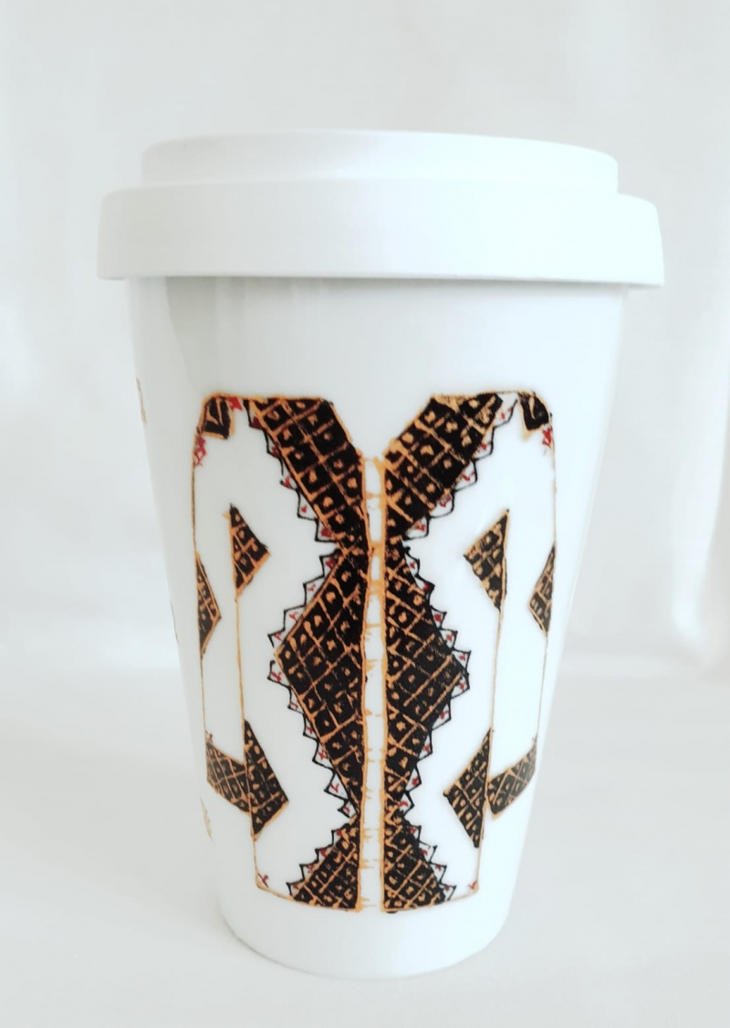 Porcelain Travel Mug Les Blouses Roumaine Collection Romanian Coat