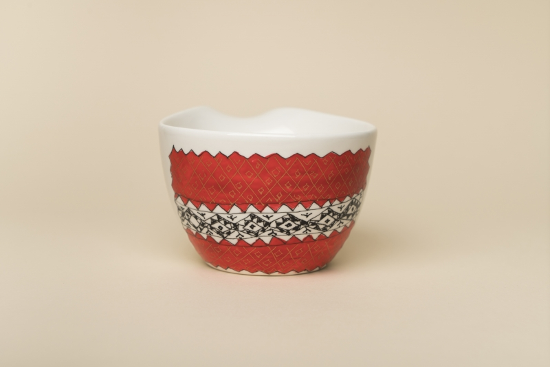 Red Romanian Motiffs Cup
