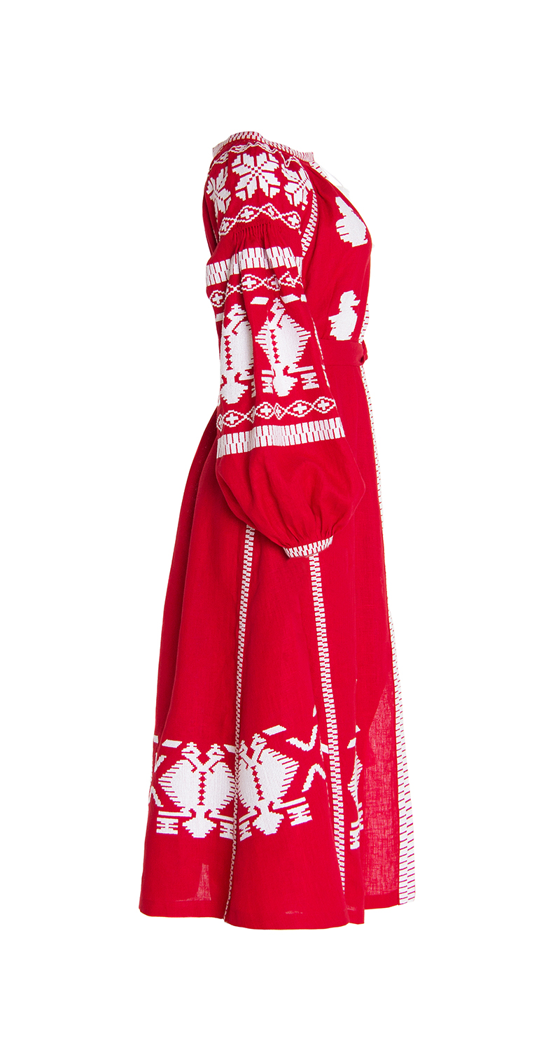 Red Rue Embroidered Dress