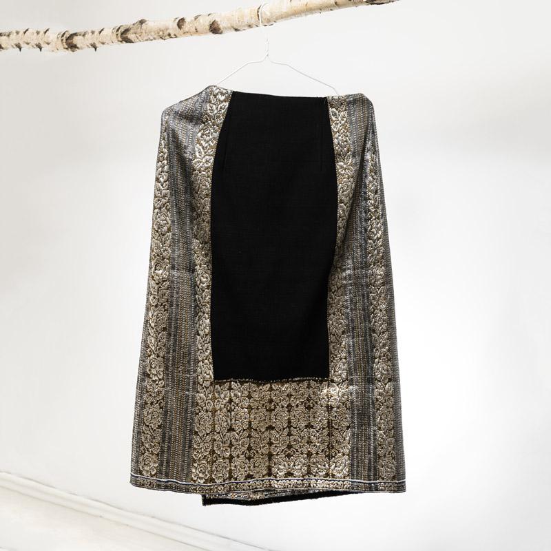 Restyled traditional original vintage apron skirt Vrancea