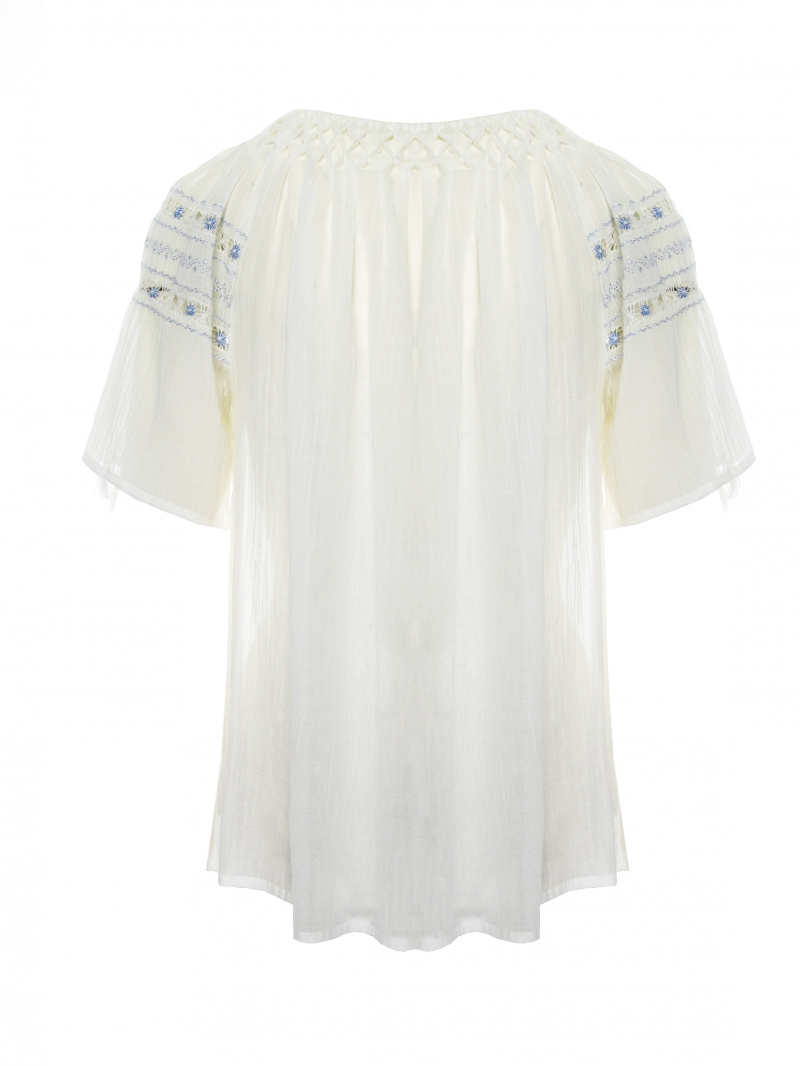 Romanian embroidered peasant top handmade by artisans of Romania