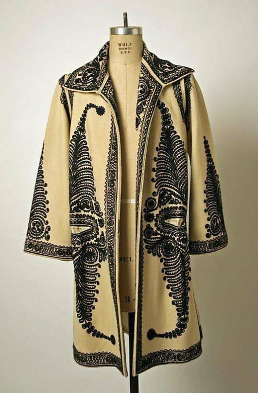 Romanian genuine Coat crafted with wool and cashmere model 1 Ecru