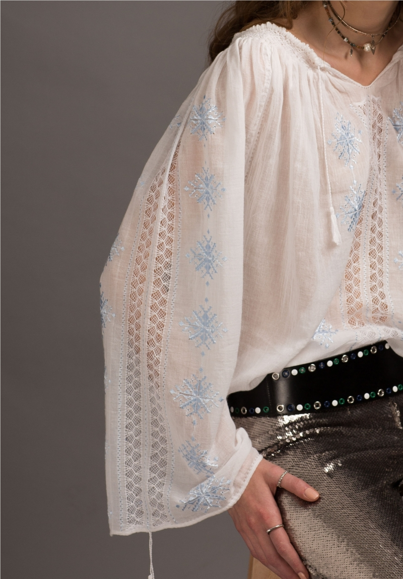 Romanian traditional blouse - Queen's Flower