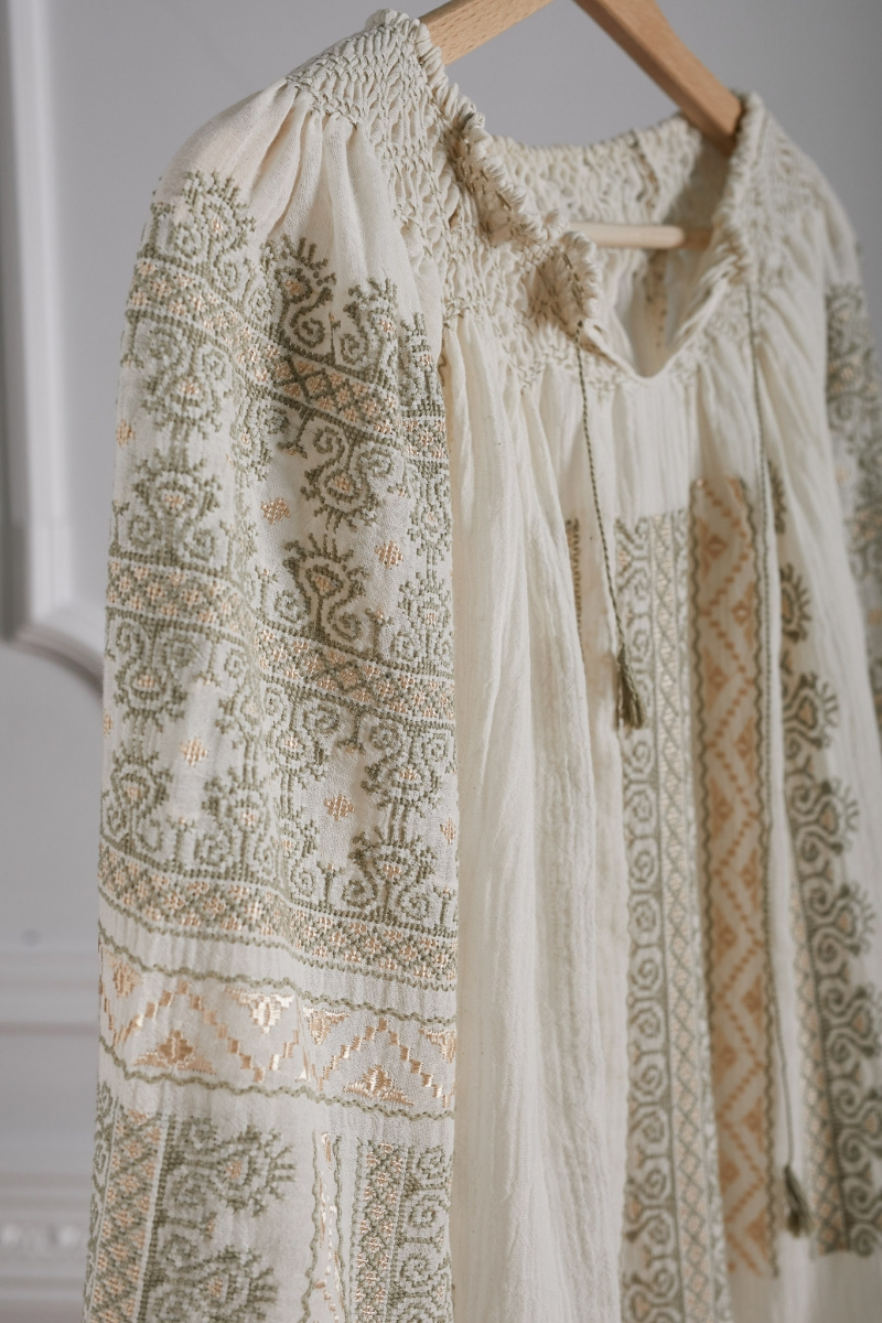 Romanian Tunic Embroidered Dress