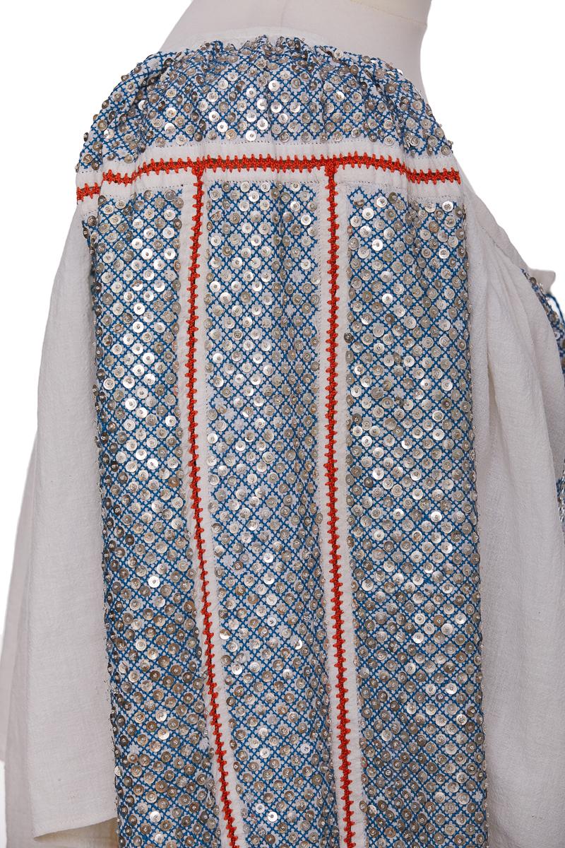 Sequins Handmade Romanian Vintage Blouse