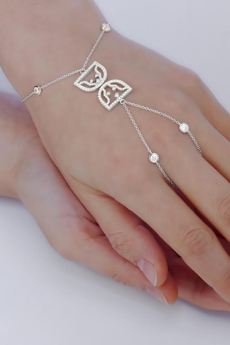 Bratara argint clepsidra Cuplul  El si Ea