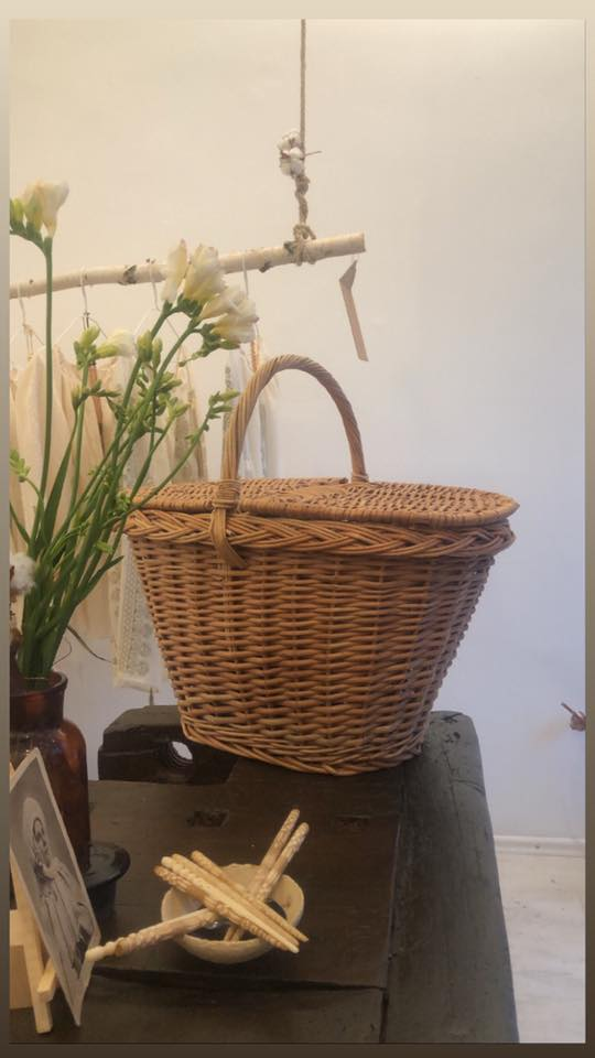 Straw crafted basket
