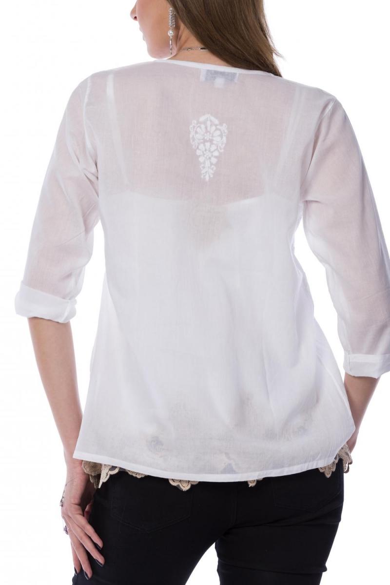 Sun white embroidered shirt I