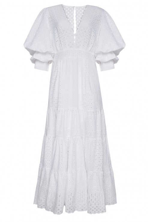 """SWAN"" WHITE DRESS FOBERINI"